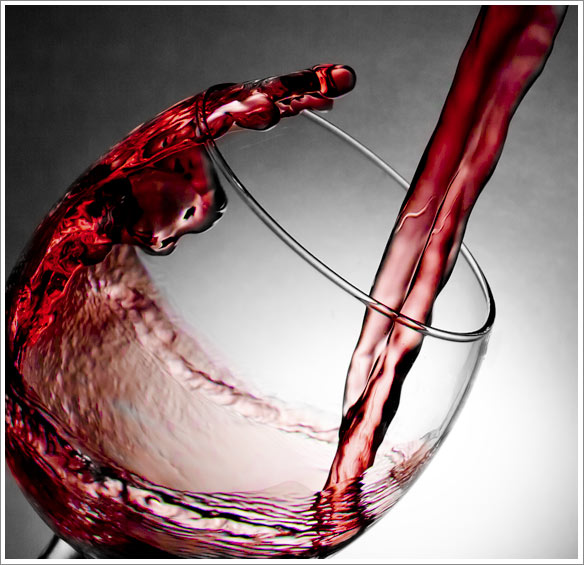 wine Splash photography
