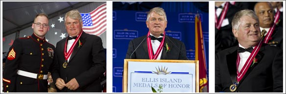 Denis O'Brien Receiving the Ellis Island Medal Of Honor